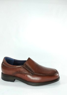 Zapato copete hombre marrón ancho especial de Tolino