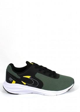 Zapatilla deportiva hombre Running color verde. Jonh Smith