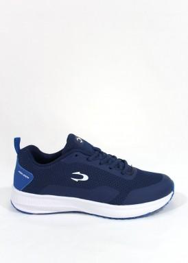 Zapatilla deportiva Azul Real hombre running , con piso blanco de John Smith.
