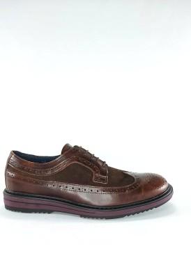Zapato cordón oxford piel y ante marrón de Explorer Team