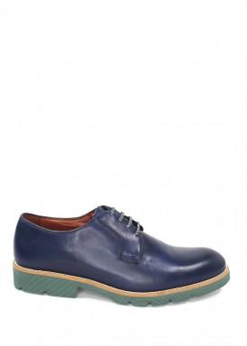 Zapato cordón vestir marino  piso verde. Tubolari