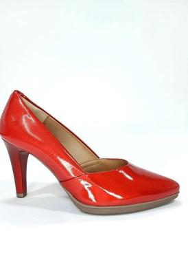 Zapato salón  charol tacón 8 , rojo Desireé