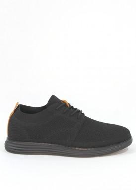 Zapatilla de hombre modelo calcetín con cordón. Piso ligero. Negro.  DOCTOR CUTILLAS