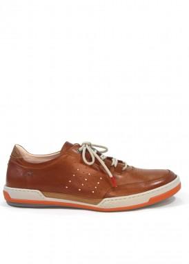 Zapato deportivo de hombre Fluchos, cordón, en marrón claro.