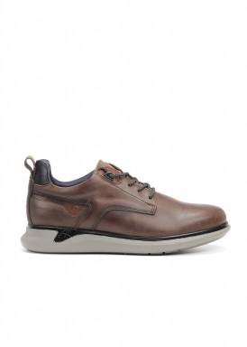 Zapato cordón piso deportivo color café de Fluchos