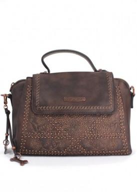 Bolso pequeño asa y bandolera ancha , marrón bordado de DOGSBYBELUCHI