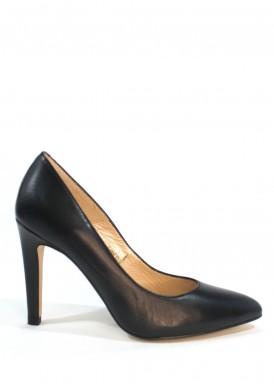 Zapato salón piel. Negro. Tacón 9 cm. Angel Alarcón