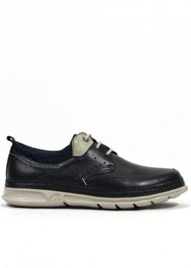 Zapato de cordón de piel, ancho especial. Estilo casual. FLUCHOS