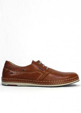 Zapato estilo casual de pie suave, especial pies delicados. Color cuero. FLUCHOS