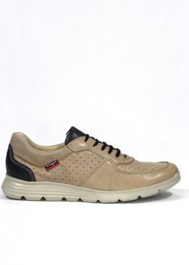 Zapato deportivo hombre, estilo casual, de piel suave, piso ligero. Clayán