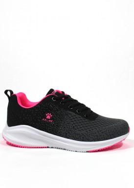 Zapatilla deportiva K-WALKING  en negro y fuxia. KELME