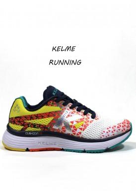 Zapatillas deportivas. Mod. CUSHION BARCELONA. Amarillo-blanco. KELME