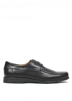 Zapato cordón básico negro. Tagore