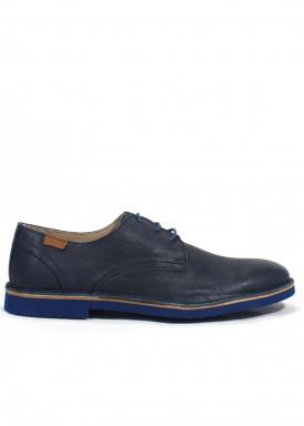 Zapato cordón piso goma eva azul marino. Tagore