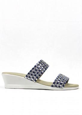 Sandalia descalza glitter azul marino. Fap