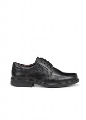 Zapato cordón vestir negro de fluchos