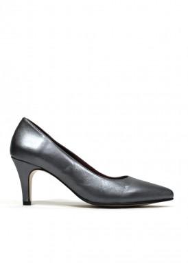 Zapato salón gris metalizado. Fap
