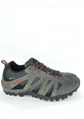 Deportivo treking hombre con MEMBRANA IMPERMEABLE, color gris, de HI-TEC
