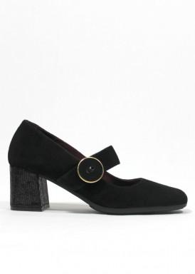 Zapato de vestir de pulsera. Tacón ancho 5 cm. PASTHER