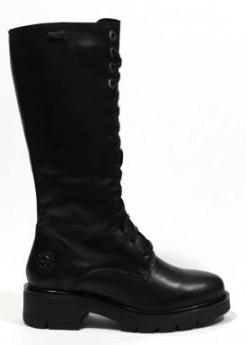 Bota militar media caña, color negro, cordón y cremallera. Kangaroos