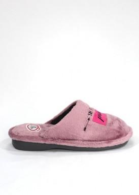 Zapatilla mujer descalza rosa maquillaje con mensaje. Laro
